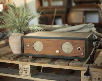 Wood Speaker Big Stereo Soundbar by Jesa Old-Fi