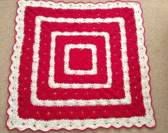 Crocheted blanket/throw
