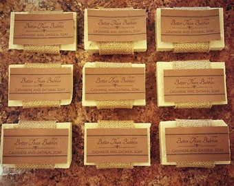 Handmade Cashmere and Oatmeal Soap (vegan)