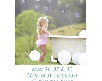 Bubbles & Bathtub Mini Session