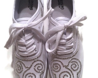Disney Shoes Sneakers Crystal Rhinestones Mickey Mouse