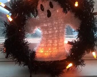 Halloween Ghost Wreath