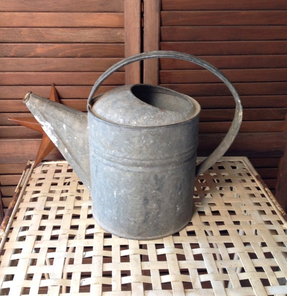 Items Similar To Galvanized Watering Can Garden Decor