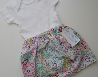 Girls Skirts (6-24 months) Bubblegum Floral