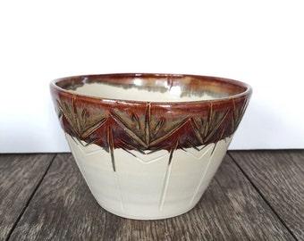 Carved Espresso Rim Bowl