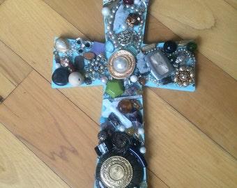 Hanging Jeweled Cross
