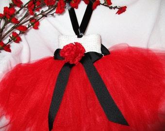 Valentine's Day Tutu Dress - Red Tutu Dress - Birthday Party - Photo Prop