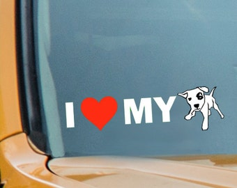 I Love My Dog Decal