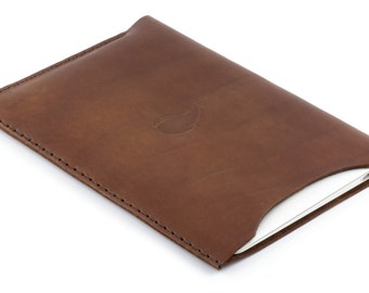 11 inch MacBook Air Leather Sleeve, Burgundy Collection, Round Cut, Thick Natural Leather Case