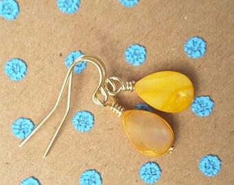 Drops of Sunshine Teardrops. Earrings