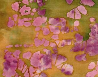 Batik 100% Cotton Fabric - Brown & Red # 13