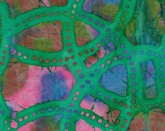 """Batik Fat Quarter 100% Cotton Fabric 18"""" x 22"""" - Green # 8"""