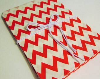 Red and White Chevron Treat Bags, Candy Buffet Bags, Little Girl Birthday Parties, Favors, Wedding, Bridal Showers, Cookie Bags, Gift Bags