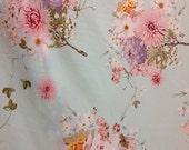 3 Yards Lot Rayon Challis Viscose Fabric Floral Island Tropical Hawaiian Palm Beach Tahiti Jungle Print Chrysant Pink Fabric