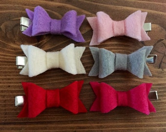 Felt Bow, Felt Bow Hair Clips! Baby Hair Clips, Toddler hair accessories