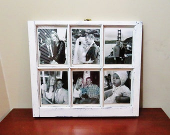 6 pane antique white frame with picture wood window picture frame 6 pane vintagedistressed window frame with picture large frame 32x28