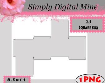 Square box template etsy 250 square box template pronofoot35fo Gallery