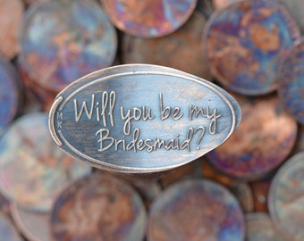 Unique Bridesmaid Gift • Copper • Engagement Collection • Bridesmaid Gift • Pressed Penny