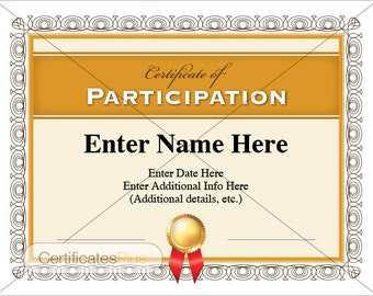 Certificate Of Participation, Business Certificate, Certificate Templates,  Teacher Certificate, Teacher Gift,  Name A Star Certificate Template