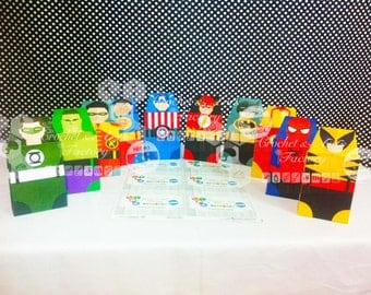 Super Hero Favor Box-Candy Box-Favor Box-Super Hero-Silhouette Cameo-Instant Download (Digital File )