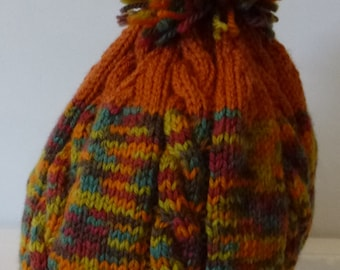 Hand knitted beanie - Adult size