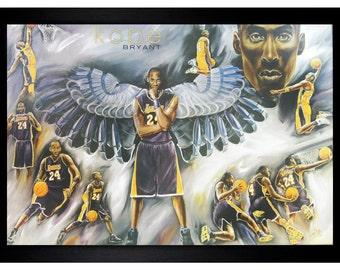 Kobe Bryant Los Angeles Lakers 24 24x36 Framed Poster