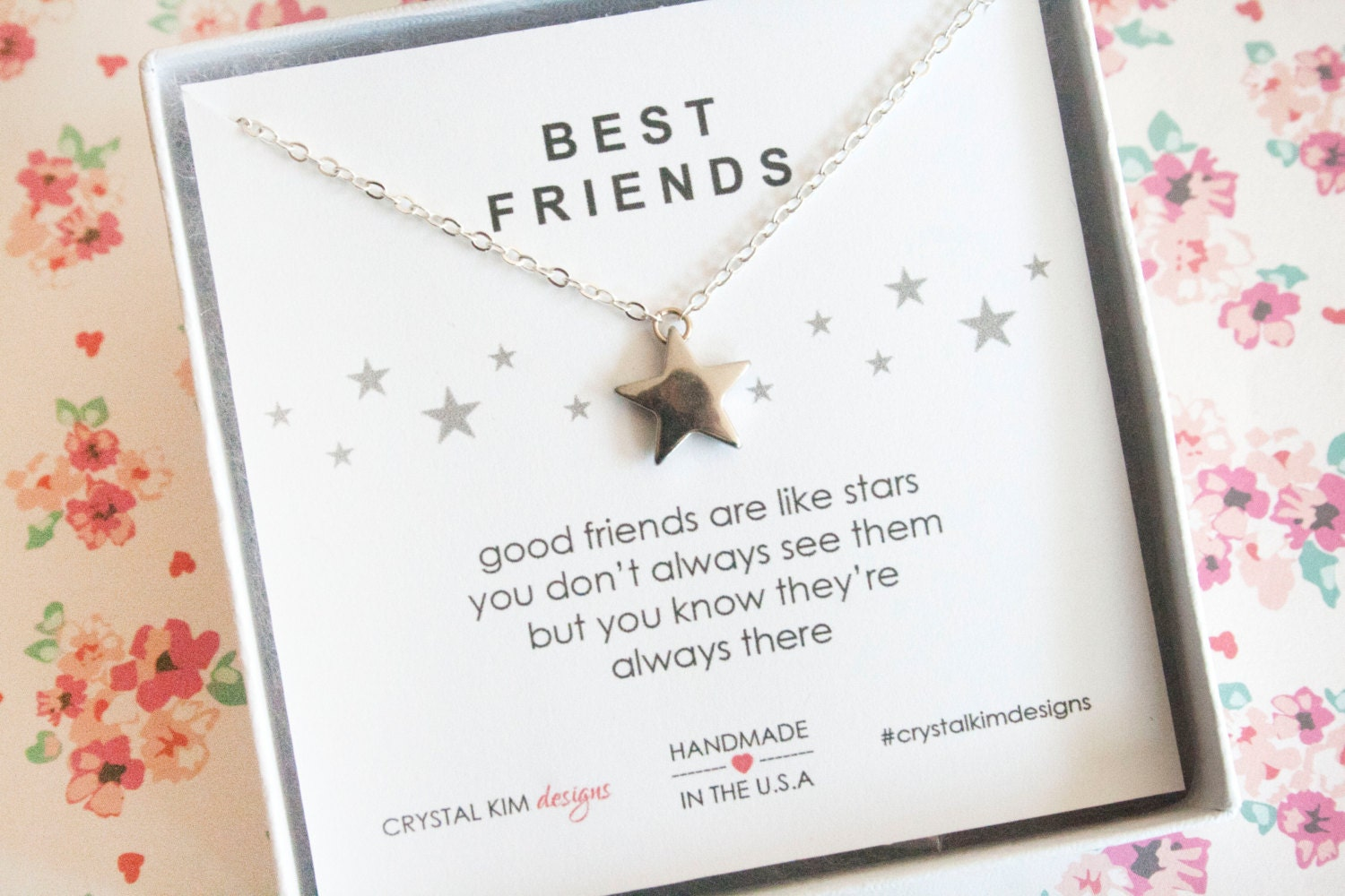 Best Friend Gift Friends Are Like Stars Quote Friendship