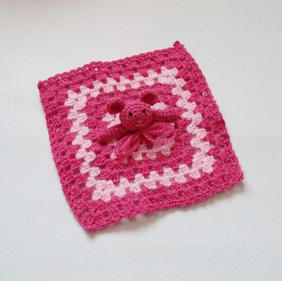 Amigurumi Baby Blanket : Amigurumi Bear Baby Security Blanket Rabbit Toy by knitmint