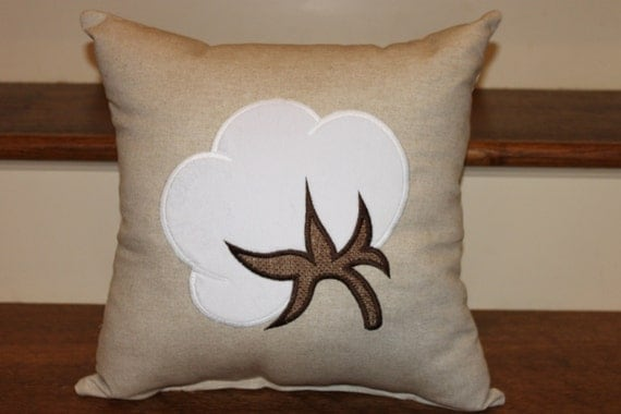 Cotton Boll Pillow Home Decor Pillow Decorative Pillow