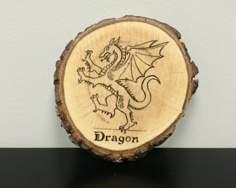Dragon Wood Burn - Mythological Creature Woodburning