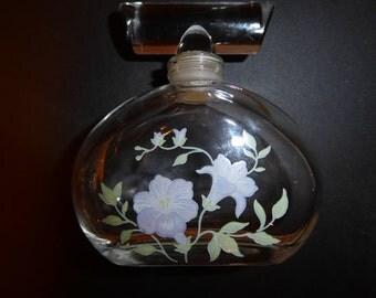 "Swank ""Flora Danica"" Crystal Perfume Bottle"