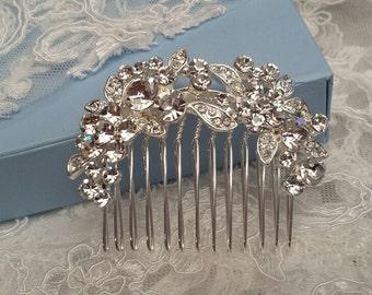 Hair Comb Rhinestone, Bridal Hair Comb, Wedding  Hair Piece