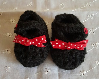 Baby Retro shoes, Mary Jane shoes, Baby shoes, Baby girl shoes, retro shoes, polka dot shoes