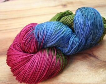 Merino Wool, Sock Yarn, Hand Dyed