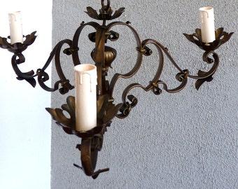 Chandelier light 3 arms, lampadario 3 braccia