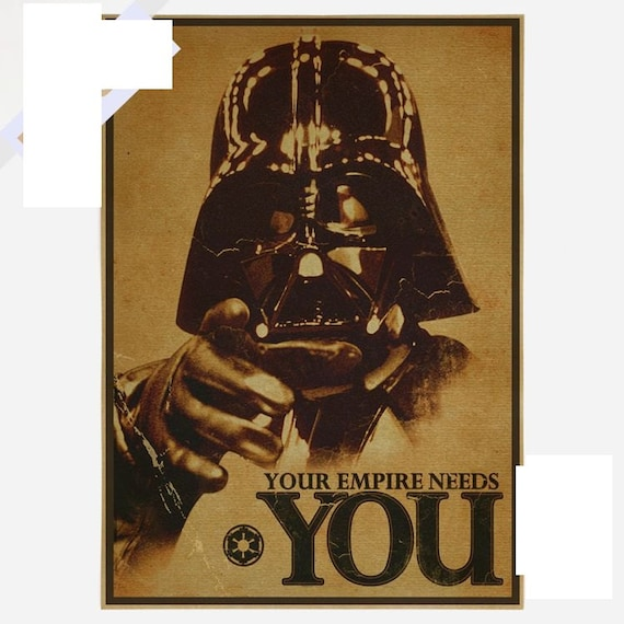 Vintage Star Wall Decor : Vintage star wars poster retro art wall home decoration