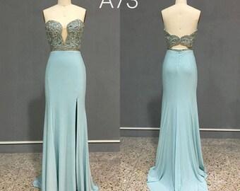 Mint Aqua Sweetheart Neckline Evening Prom Dress