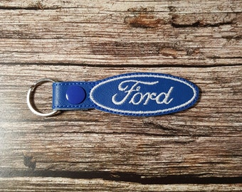 Ford Logo Key Chain Ford Logo Key Fob Ford Logo Zipper Pull