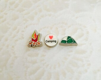 camping floating charms for memory lockets