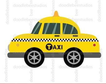 New York Taxi Cab Clipart, NY Taxi Cab Clip Art, Taxi Cab Clip Art, Taxi Clipart, NY Taxi Clipart, New York Clip Art, Yellow Taxi Clipart