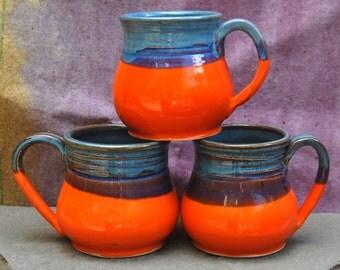 Roarange and Blue Mugs