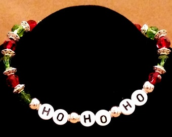 Christmas Ho Ho Ho Bracelet