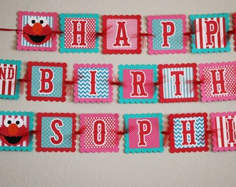 Elmo Birthday Banner - Elmo Party