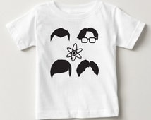 Big Bang Theory Baby Silhouette Toddler Cute Cool Summer Spring T-Shirt Top