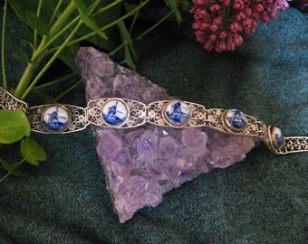 Delftware Silver Bracelet