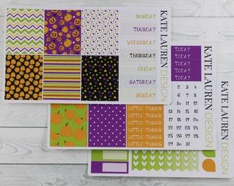 SALE! Halloween Stickers, Halloween Weekly Kit, Halloween Planner Stickers, Halloween Kit, Erin Condren Sticker Kit