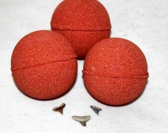 Shark Bait Bath Bomb- Real Shark Tooth Inside, Surprise Bath Bomb