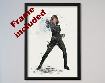 Daisy Johnson Quake Poster Agents of S.H.I.E.L.D. Watercolor Print Wall Decor Fine Art Home Decor Wall Hanging Framed express option Skye
