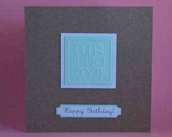 Simple Embossed Birthday card