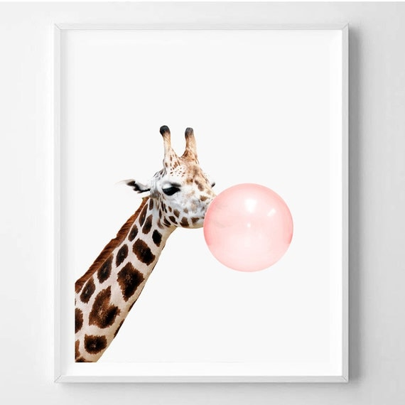 Giraffe Print Nursery Animal Wall Art Giraffe Decor Kids